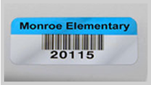 Silver barcode labels
