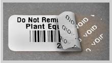 Tamper Evident barcode labels
